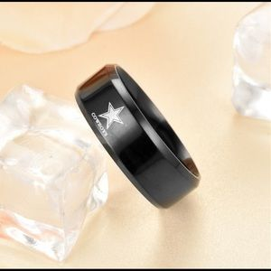 Other - Black titanium stainless steel cowboys ring